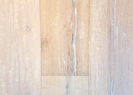 Duo-plank aanbiedingen eiken rustiek 15 + 4 mm. gerookt-geborsteld-verouderd-wit geolied